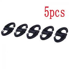 5PCS  Plastic Steel Outdoor Dual Buckle S-Type Carabiner Keychain Climbing Hook