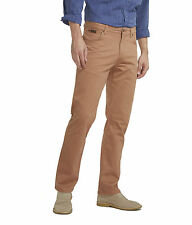 Wrangler Texas Stretch Jeans New Mens Brown Regular Fit Soft Fabric Chino Style