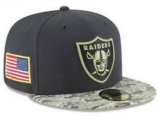 Official 2016 Oakland Raiders New Era NFL Salute to Service 59FIFTY Fitted Hat