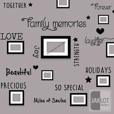 FAMILY MEMORIES Words Wall Art Quote - Vinyl Decal Stickers Home decor