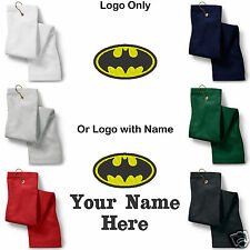 Batman Logo Embroidered Golf Sport Towel Reg. or Custom/Personalized