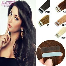 "20 Pcs 16""-24"" Remy Straight Tape in Human Hair Extensions Skin Weft Remy Hair"