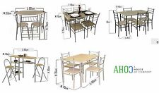 Modern Dining Room Table And Chairs Set Kitchen Furniture Bistro Breakfast Bar