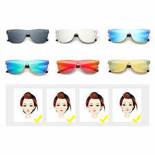 M Nail Decorated Integrated Metal Frame Colorful Lens UV400 Sunglasses OL