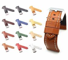 BOB Alligator Style Watch Band/Strap for Panerai, 24/22 mm, 12 colors, new!