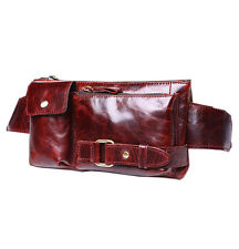 Men's Vintage Genuine Leather Cowhide Waist bags Small Fanny Pack Messenger bags