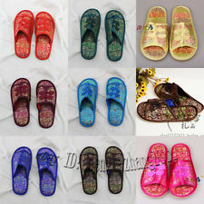 NEW GIFT Traditional Chinese Style Brocade Women's/ Men Open Toe Shoes Slippers