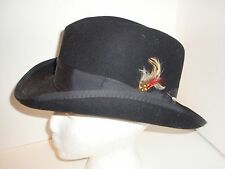 Men's Godfather Fedora Wool Hat All Sizes & Colors Black Pink White Maroon Blue