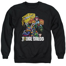 Judge Dredd Bike And Badge Mens Crewneck Sweatshirt Black
