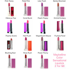 Maybelline Color Sensational Lipstick - Choose Any 2 Shades for $8