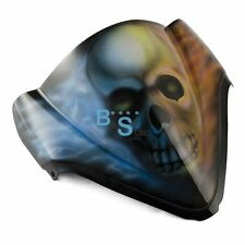 Airbrushed Skull Flames Windscreen Windshield For Kawasaki Fairing motorcycle