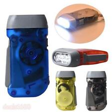 1x Portable Wind Up Hand Pressing Crank Emergency LED Flashlight Torch Light LJ