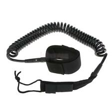 10/11/12ft Surfboard Surf Leash Stand Up Paddle Board Coiled Leg Rope Ankle Cuff