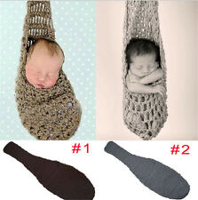 Newborn Photography Props Handmade Knitted Hammock Cocoon Infant Toddler Crochet