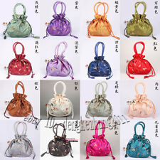 Wholesale Handmade Embroider Flower Handbags Silk Satin Jewelry Bags Pouches