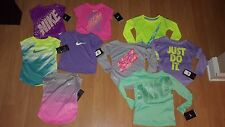 Nike Toddler Girls' Lightweight Dri-Fit Graphic or Solid Shirt, MSRP $20-$38