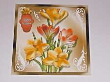 Handmade Greeting Card 3D All Occasion With Daffodils