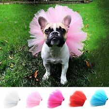 Pet Puppy Small Dog Lace Tulle Tutu Skirt Princess Dress Clothes Apparel Costume