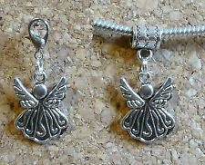 BEAUTIFUL FAIRY ANGEL TIBETAN SILVER CHARM CLIP ON CHARM OR BAIL FOR BRACELET