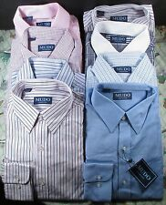 Mudo Collection Mens Long Sleeve Dress Shirts 100% Cotton Size 34-35 Neck 15 1/2