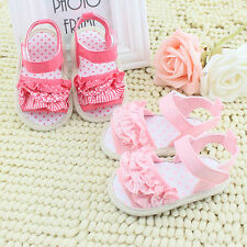 0-18M Summer Baby Infant Kids Princess Girl Soft Sole Crib Casual Sandals Shoes