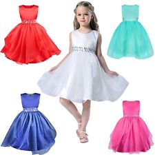 Pageant Organza Flower Girl Dress Kids Birthday Wedding Bridesmaid Formal Dress