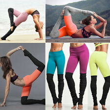 Women's Ladies Running Yoga Fitness Leggings Gym Sports Pants Strench Trousers