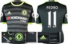 *16 / 17 - ADIDAS ; CHELSEA 3rd KIT SHIRT SS + PATCHES / PEDRO 11 = KIDS SIZE*