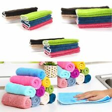 10/20PCS   Washing Multiduty Bamboo Scrubbing Cloth Cleaning Towel Microfibre
