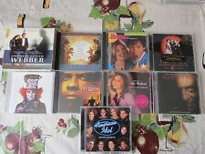 Lot of 10 Soundtrack Broadway Cds TV American Idol Almost Alice Hannibal Titans