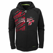 New Jersey Devils Reebok Youth TNT PlayDry Full Zip Hoodie - Black - NHL
