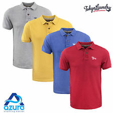 Mens Polo Shirt Tokyo Laundry Short Sleeve Collar T Shirt Summer Casual S to XXL