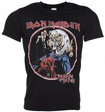 Official Men's Black Iron Maiden Number Of The Beast T-Shirt
