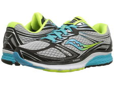 Saucony Womens Running Shoes Guide 9  All Wide Sizes Grey Citron NIB Free Ship