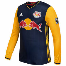 New York Red Bulls adidas 2016 Authentic Secondary Long Sleeve Jersey - MLS