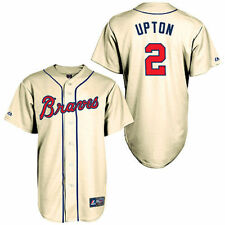 BJ Upton Atlanta Braves Majestic Alternate Old Replica Player Jersey - MLB