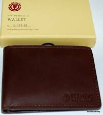 ELEMENT WALLET mens NEW endure chocolate  50% leather/50% PU SURF SKATE LOGO