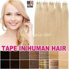 40Pcs 100g+ Brazilian Virgin Remy Human Hair Extensions Tape In Skin Weft I403