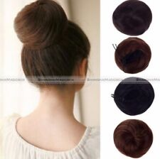 Drawstring Hair Bun Cover Hairpiece Clip in Synthetic Extensions Ponytail