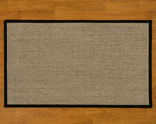 Natural Area Rugs Sisal Handmade Black Area Rug