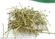Wholesale Mixed Lots Bronze Tone Flat Head Pins 50x0.7mm