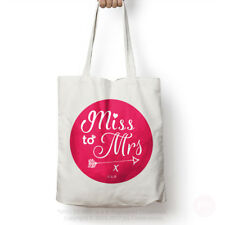 Miss To Mrs ® Cotton Gift / Goody / Shopping Bag – Classy Hen Do Party for So...