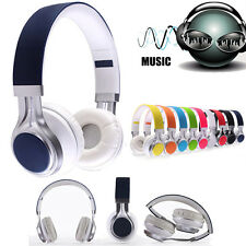 3.5mm Wired Headphone Earphone Headset Foldable for iPhone iPod MP3/4 PC Tablet
