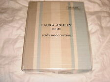New Laura Ashley Awning Stripe Duck Egg Ready Made Curtains 64