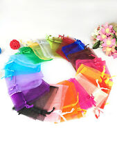 Colorful 25/50/100pcs Wedding Favour Sheer Gift Bags Packing Organza Pouch Bag