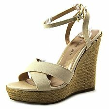 Madden Girl Women's Viicki Platform Wedge Sandal, Natural, Size 8.0