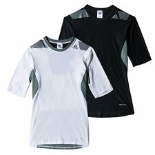 Adidas Mens Techfit POWER Compression Short Sleeve Top