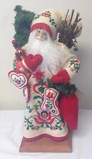 "Lynn Haney 1994 Santa Of Christmas Village 18"" Signed on Base Style #149"