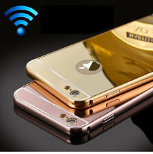 Luxury Aluminum Ultra-thin Mirror Metal Push-Pull PC Back Case Cover For iPhone