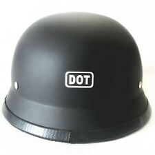 DOT Black Matte Motorcycle Half Helmet German Helmet For Biker Chopper Cruiser